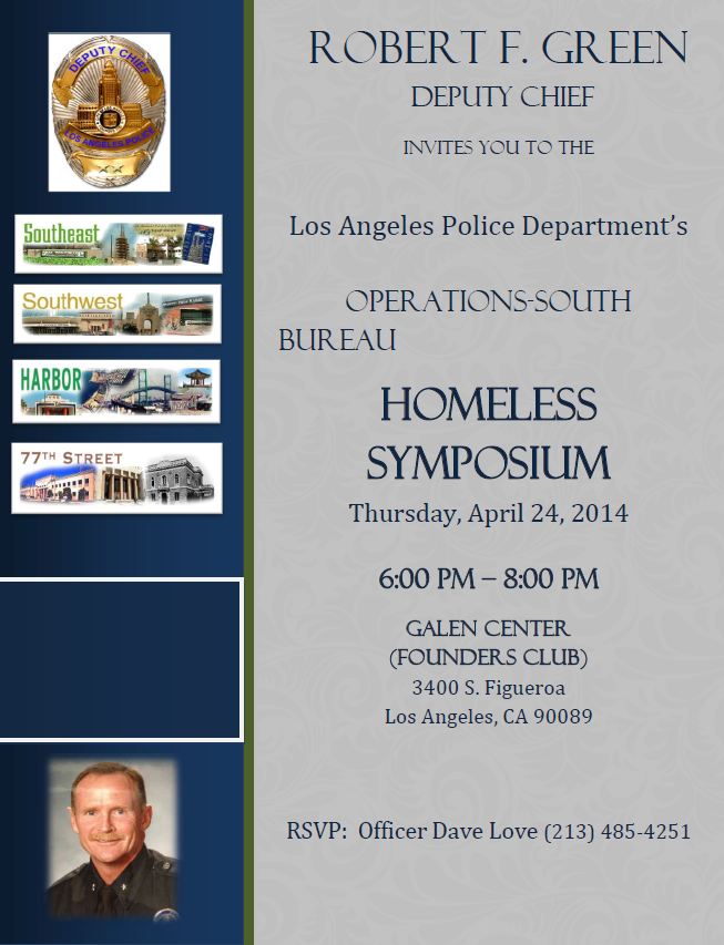LAPD South Bureau Homeless Symposium